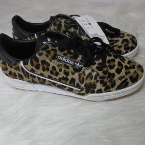 ADIDAS CONTINENTAL 80 Leopard sneakers sz 10.5